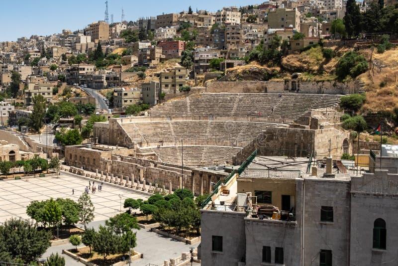 Théâtre romain d'Amman images stock
