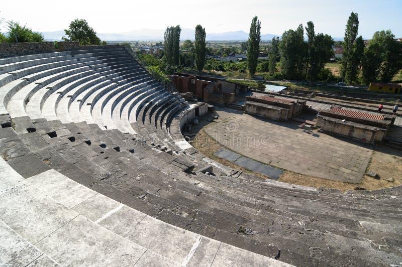 Théâtre romain Heraclea Lyncestis, Bitola Macédoine photos stock