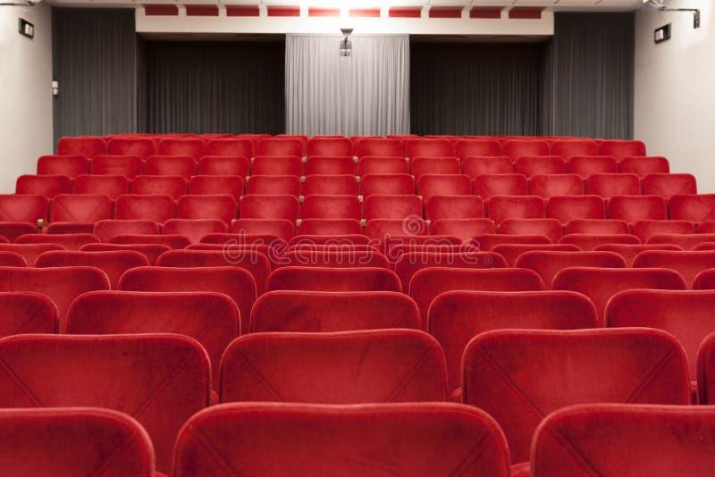 Théâtre rouge photographie stock