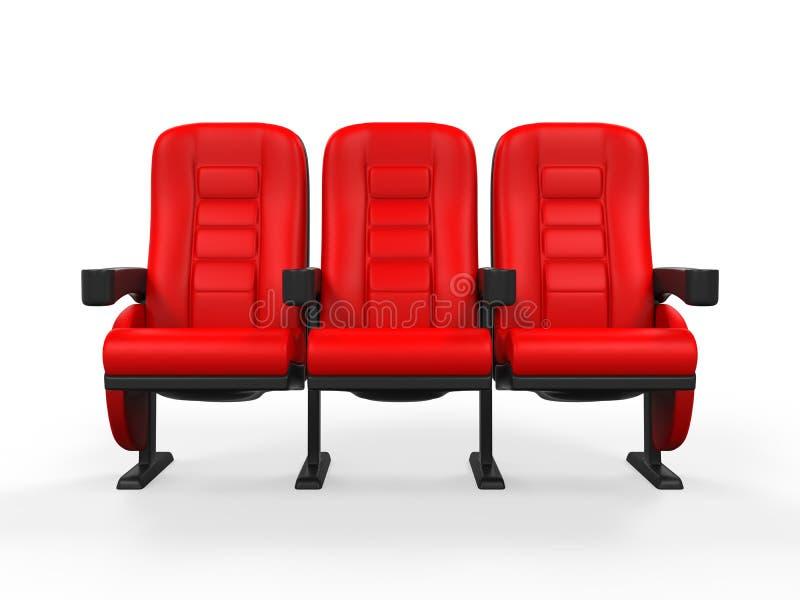 Théâtre rouge Seat illustration de vecteur