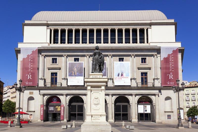 Théâtre royal construisant Teatro vrai à Madrid photo libre de droits
