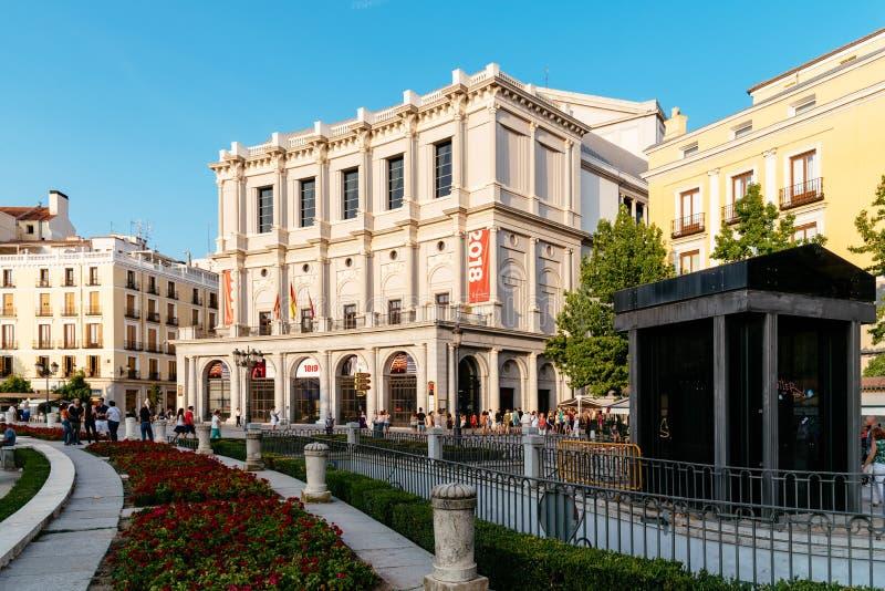 Théâtre royal de Madrid en Espagne Opéra House image stock
