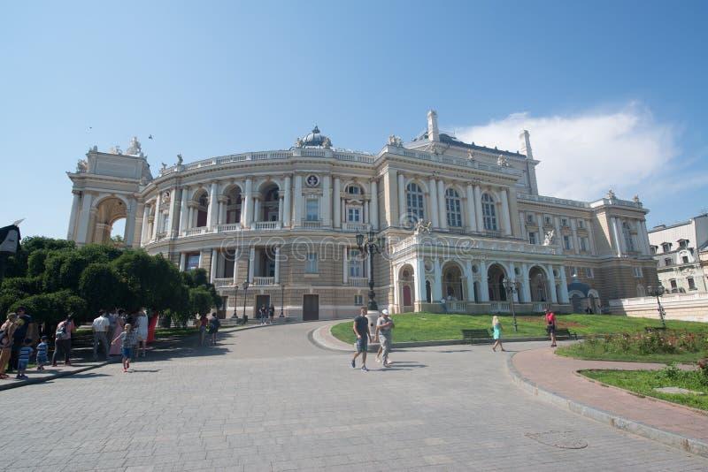 Théâtre scolaire national d'Odessa d'opéra et de ballet images libres de droits