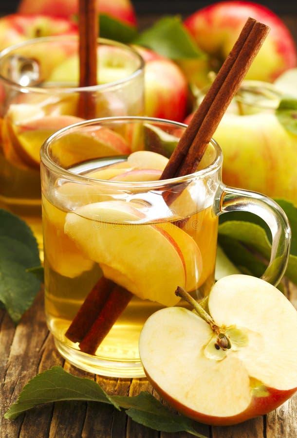 Thé épicé de pomme image stock