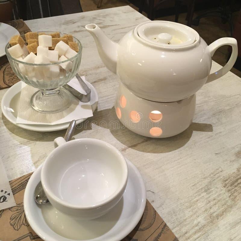 Thé avec du sucre image libre de droits
