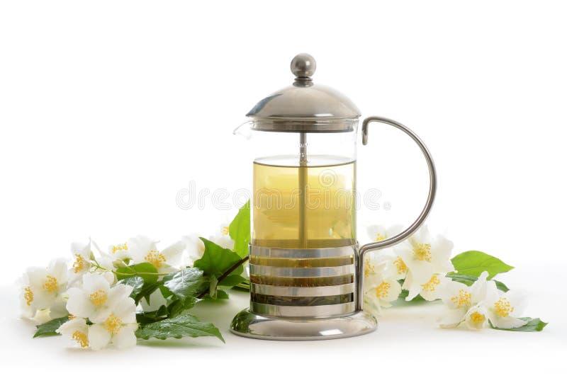 Thé avec le jasmin image stock