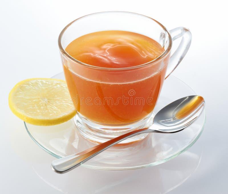 Thé chaud de citron image stock