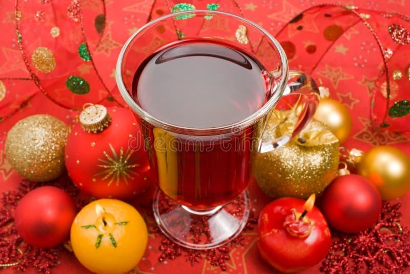 Thé chaud de l'hiver photo stock