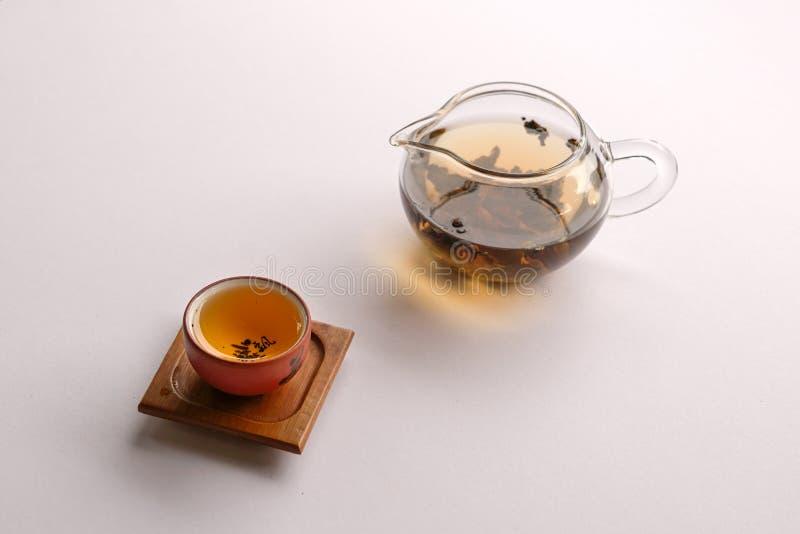 Thé chinois avec la théière image stock
