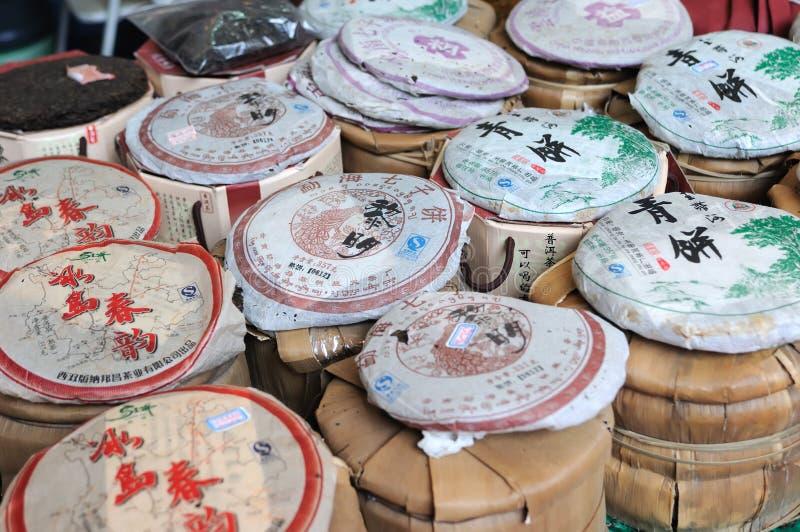 Thé chinois dans le marché photographie stock libre de droits