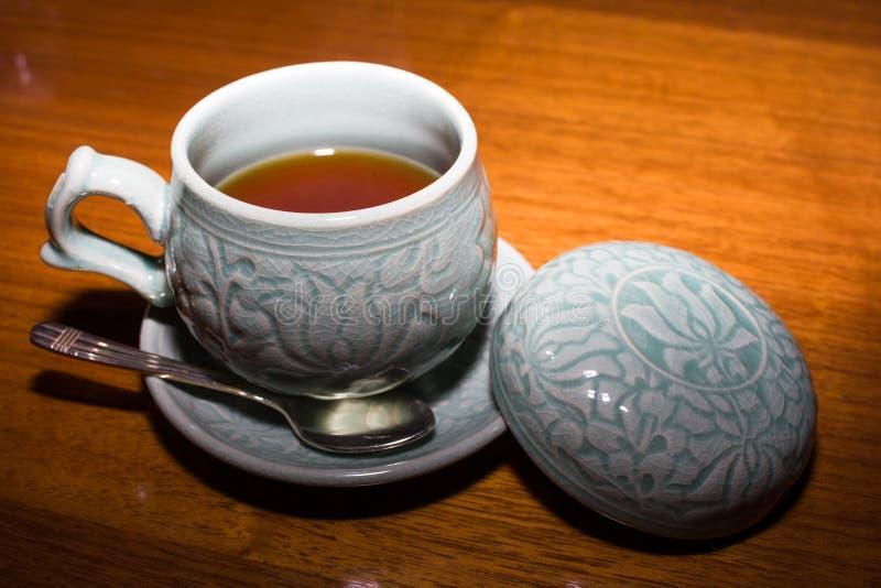 Thé coréen rouge de ginseng images libres de droits