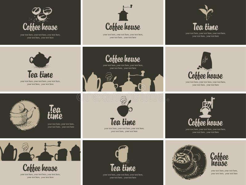 thé d'éléments de conception de café illustration stock
