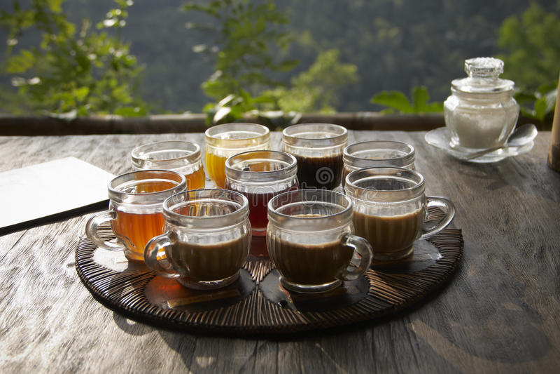 thé d'éléments de conception de café photos libres de droits