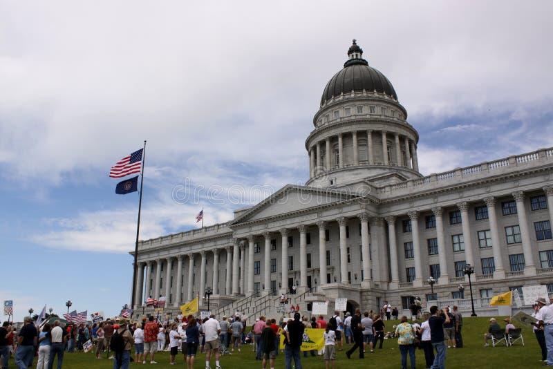 thé d'état de protestation de réception de capitol photo libre de droits