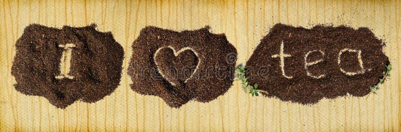 thé d'amour du fond i image libre de droits