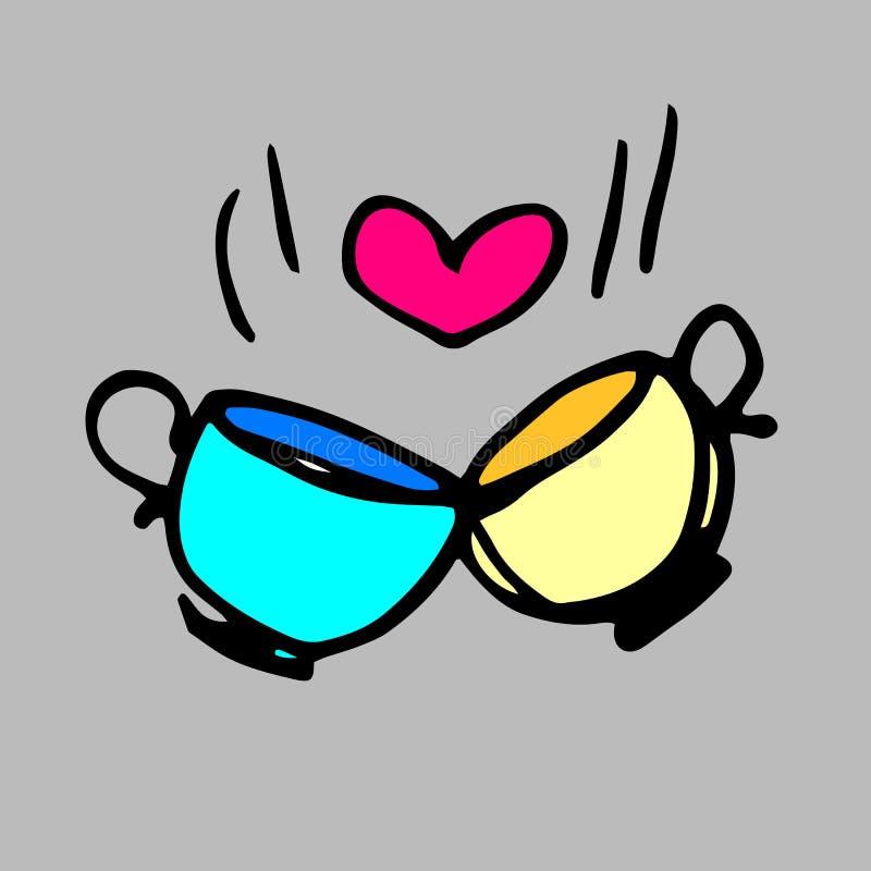 Thé d'icône d'expresso de boissons de café de tasse illustration libre de droits