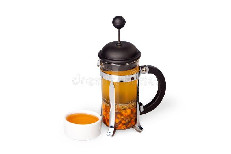 Thé de baie avec du miel photo stock