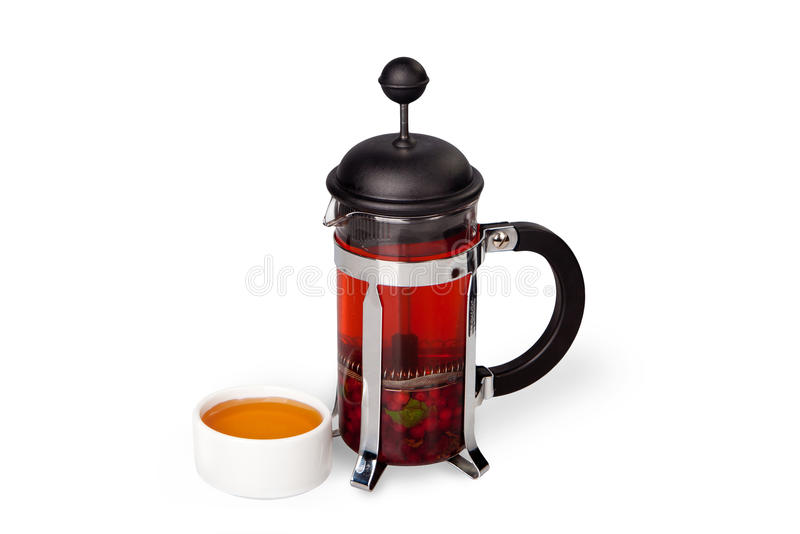 Thé de canneberge avec du miel photographie stock