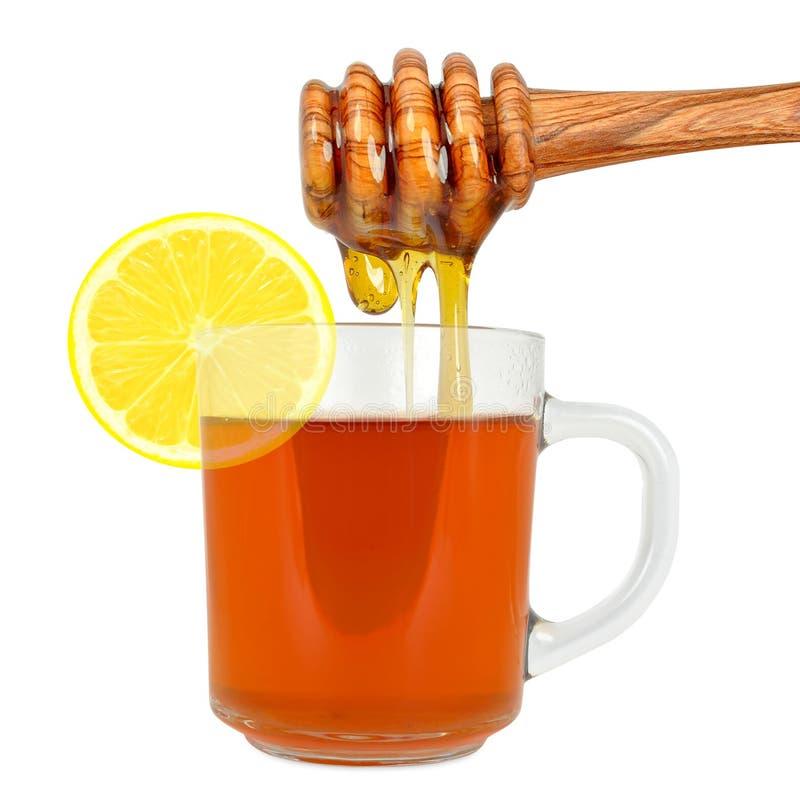 Thé de citron avec du miel illustration libre de droits
