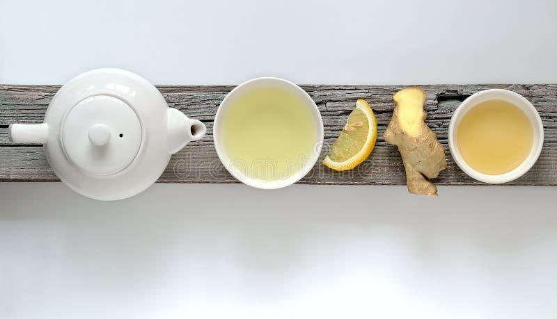 Thé de citron de gingembre images stock