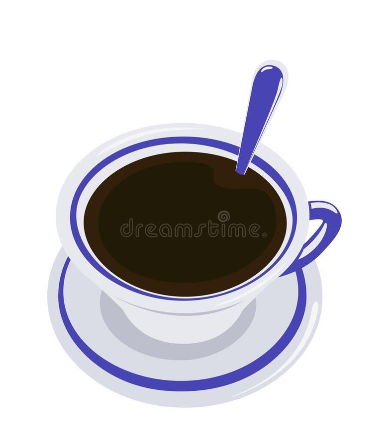 thé de cuvette illustration stock