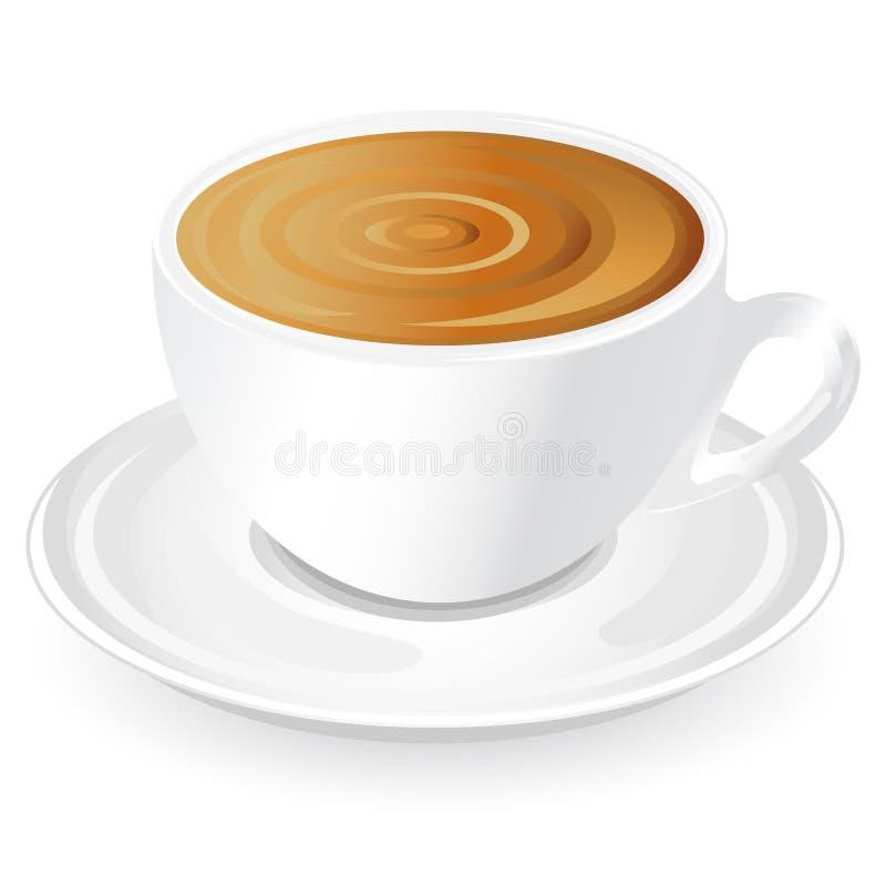 thé de cuvette de café illustration de vecteur