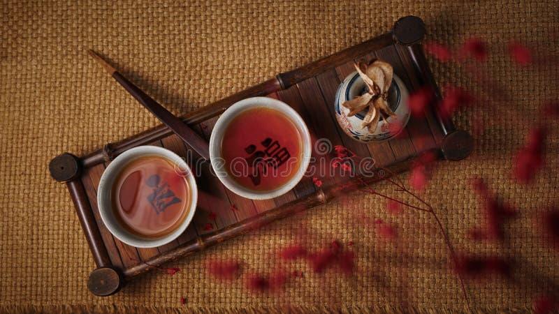 Thé de ` d'unité centrale heu en Chine photos stock