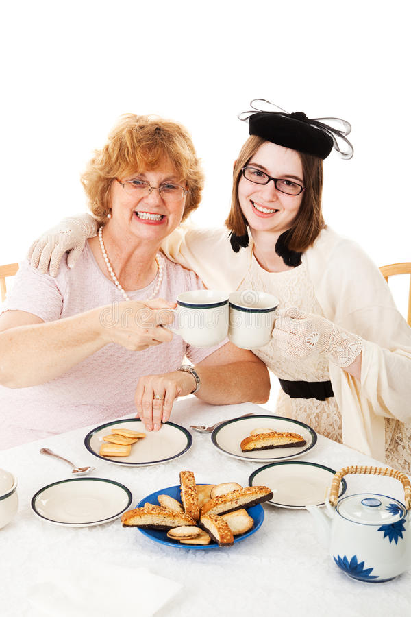 Thé de jour de mères avec la maman photos libres de droits