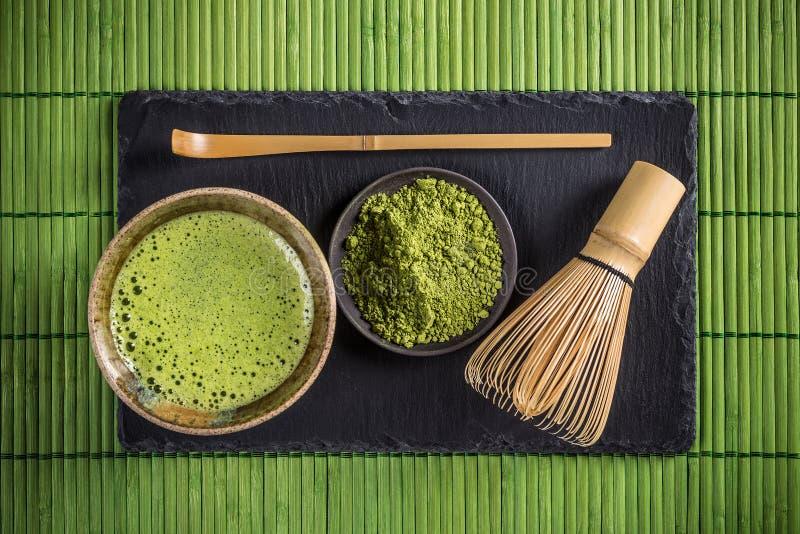 Thé de Matcha photographie stock