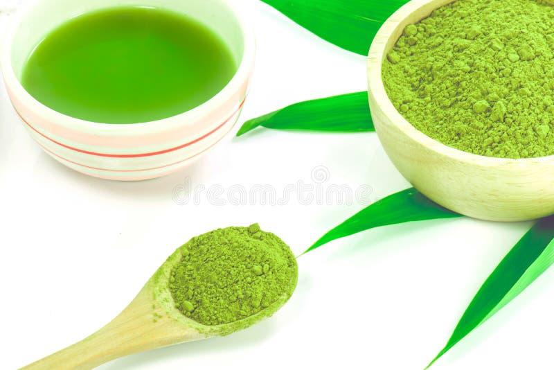 Thé de Matcha photo stock
