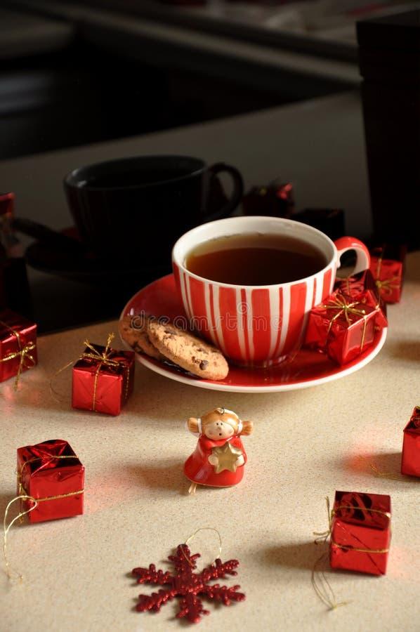 Thé de Noël photographie stock