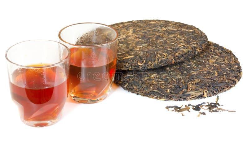 Thé de puer de chinois traditionnel photos stock
