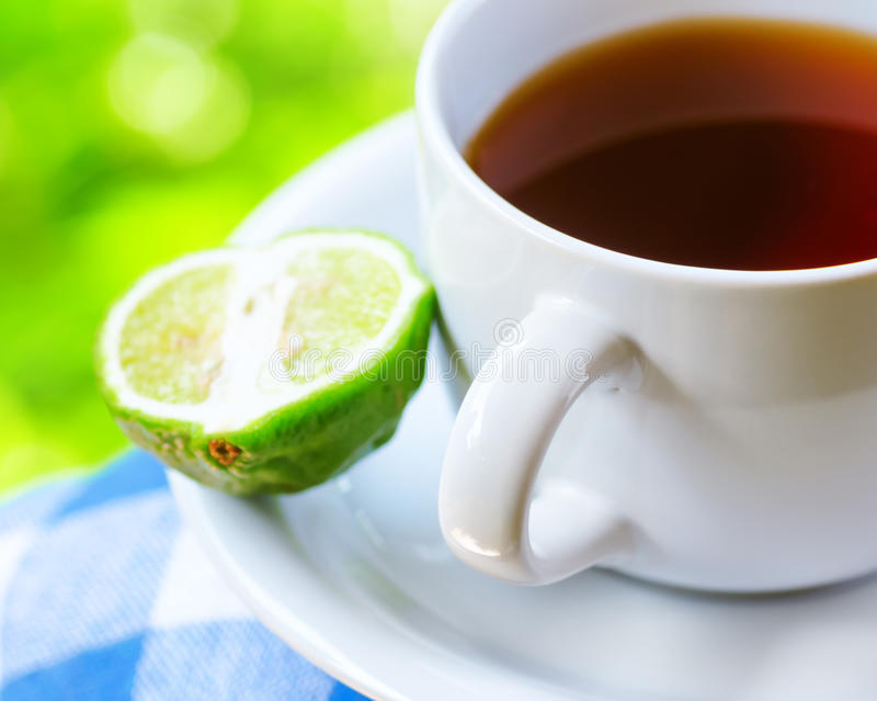 Thé gris de comte avec la bergamote photo libre de droits