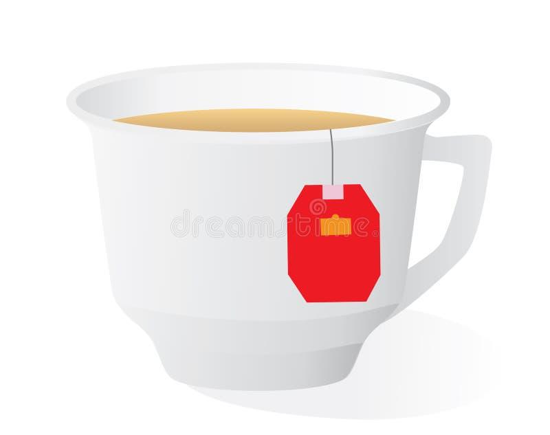 thé intense de cuvette illustration libre de droits