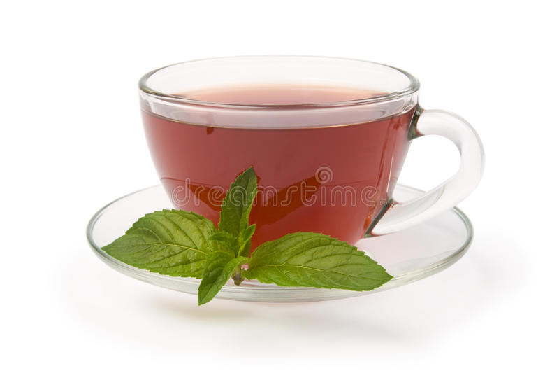 Thé noir avec la menthe de poivre photo libre de droits