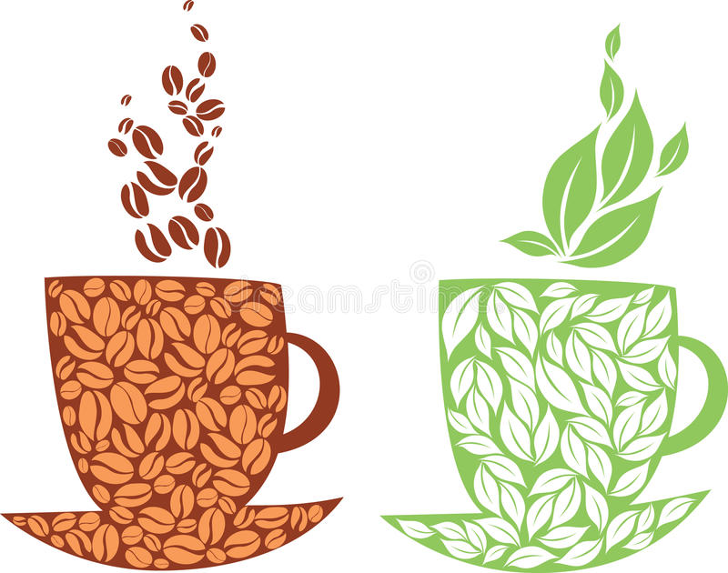 Thé ou café illustration stock