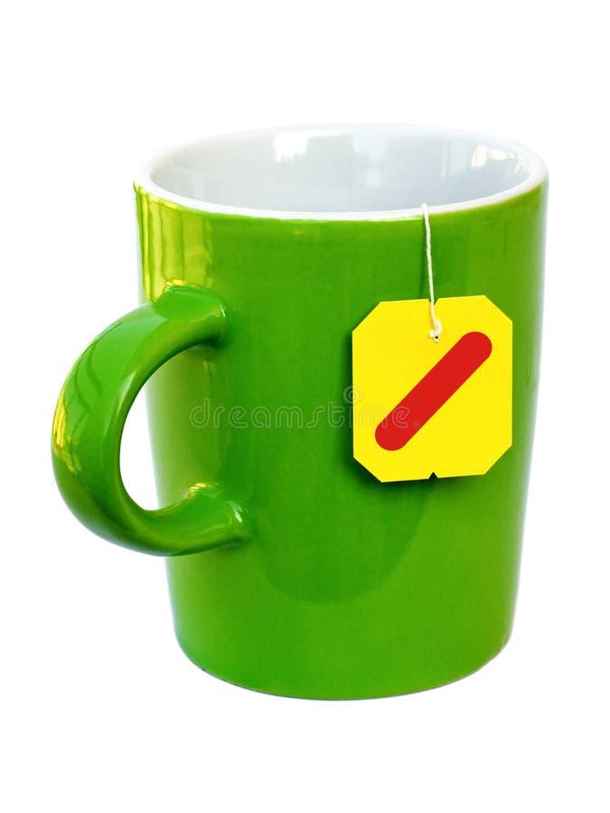 thé prêt de cuvette de sac images libres de droits