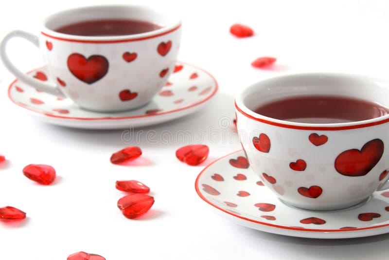 Thé romantique pour deux images stock