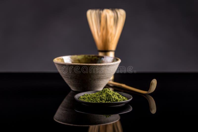 Thé vert de Matcha images libres de droits