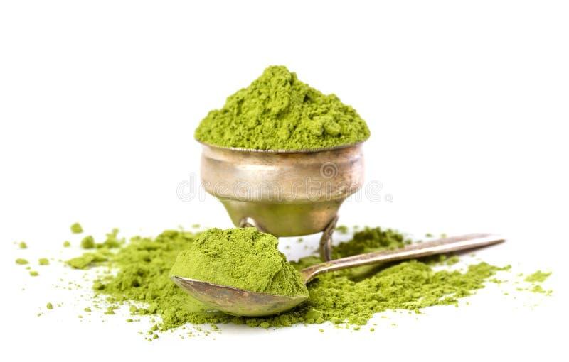 Thé vert de poudre photographie stock