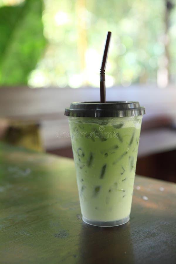Thé vert glacé image libre de droits