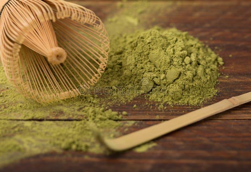 Thé vert matcha photographie stock libre de droits