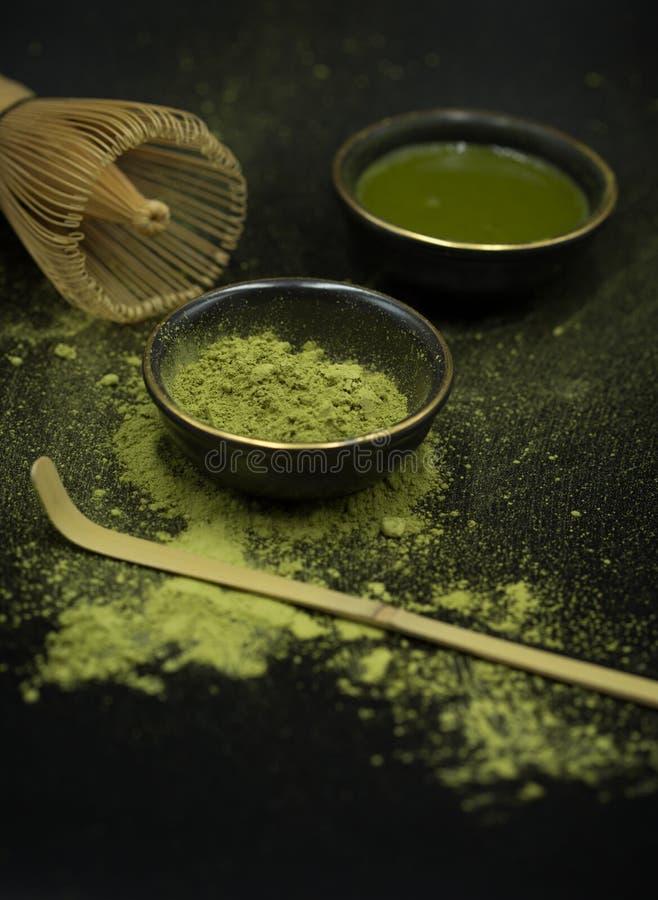Thé vert matcha photo libre de droits