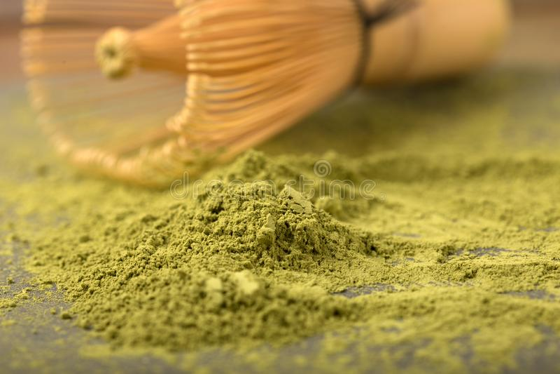 Thé vert matcha image libre de droits