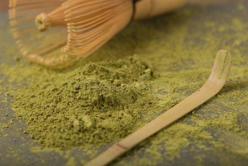Thé vert matcha images libres de droits