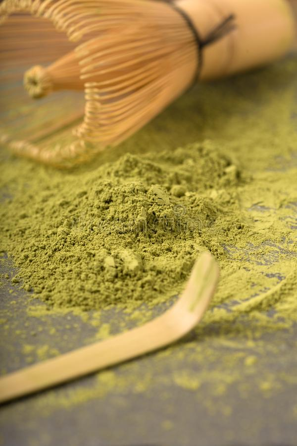 Thé vert matcha images stock