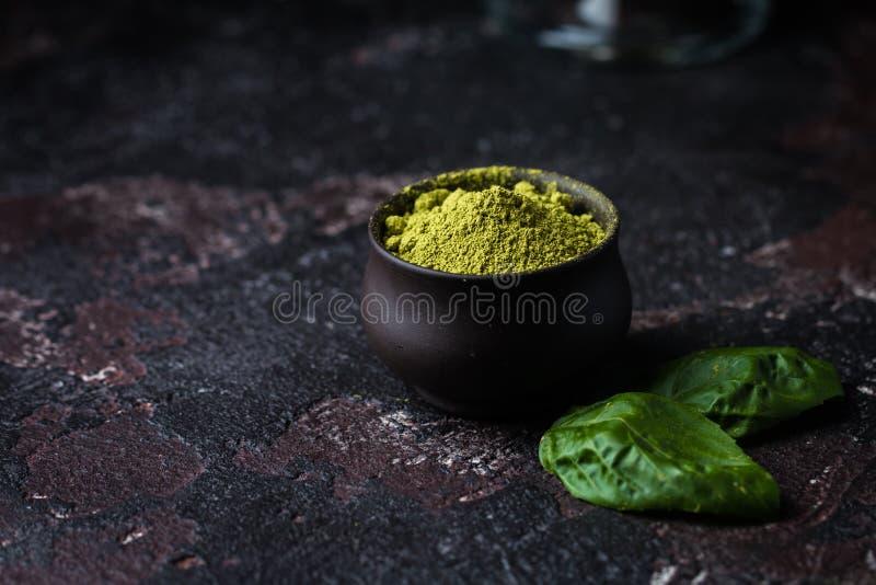 Thé vert organique de Matcha images libres de droits