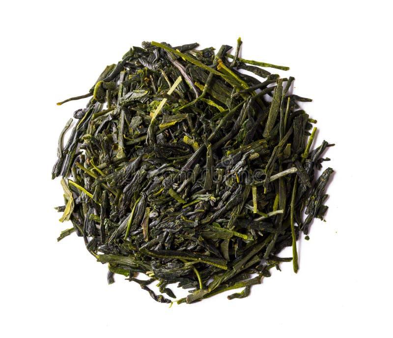 Thé vert, shincha japonais, d'abord flux, thé d'ombre photographie stock