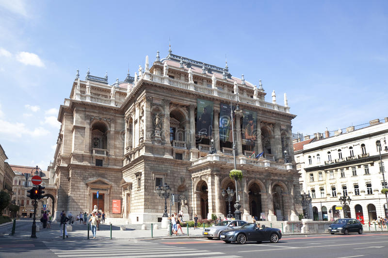 Théatre de l'opéra d'état hongrois photo libre de droits