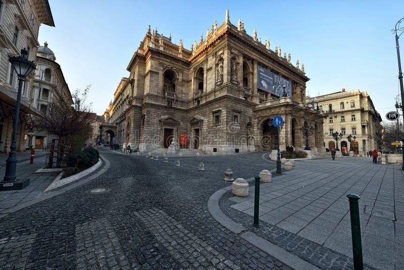 Théatre de l'opéra d'état hongrois photographie stock